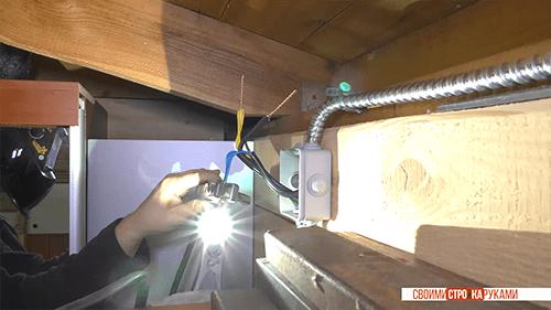 Сварка скруток Соединение проводов в распределительной коробке Тарас Кириченко homework